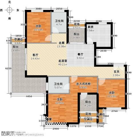 紫薇・花园洲3室0厅2卫1厨145.00㎡户型图