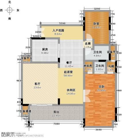 华润・石梅湾九里1室0厅2卫1厨139.00㎡户型图