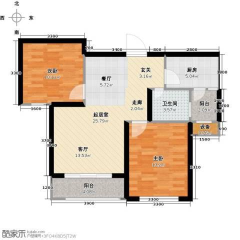 三江国际丽城C区.澜岸2室0厅1卫1厨83.00㎡户型图