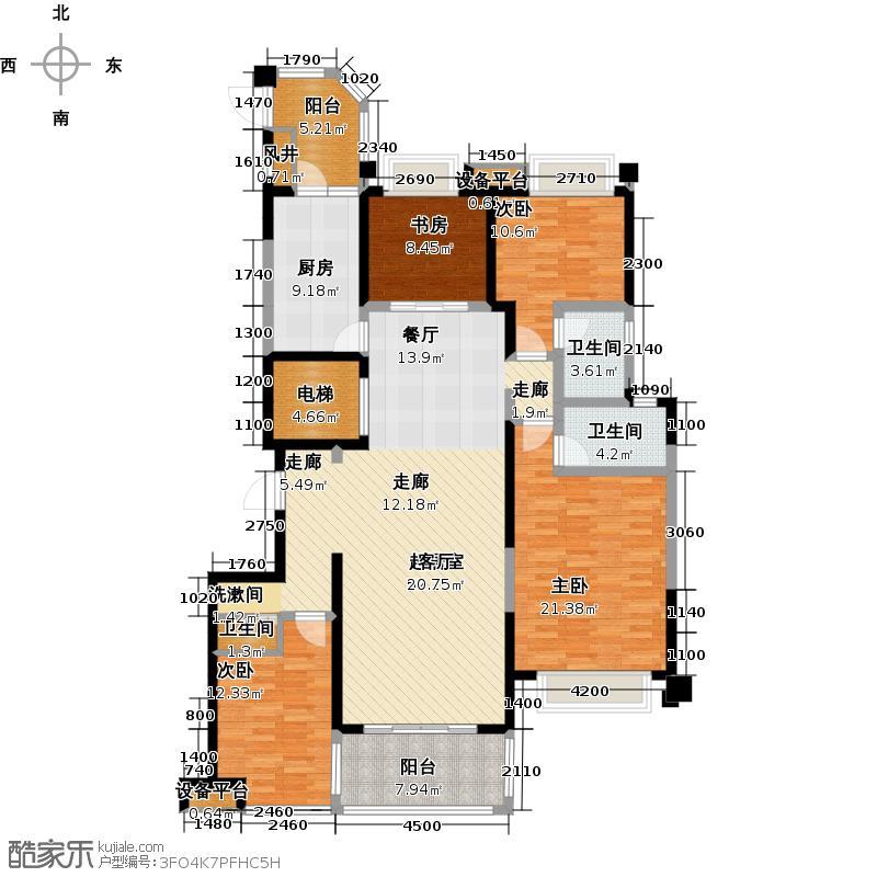 碧桂园天玺湾179.48㎡J360B户型4室2厅3卫