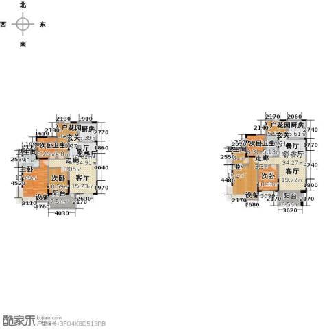 布鲁斯国际新城6室2厅4卫2厨285.00㎡户型图