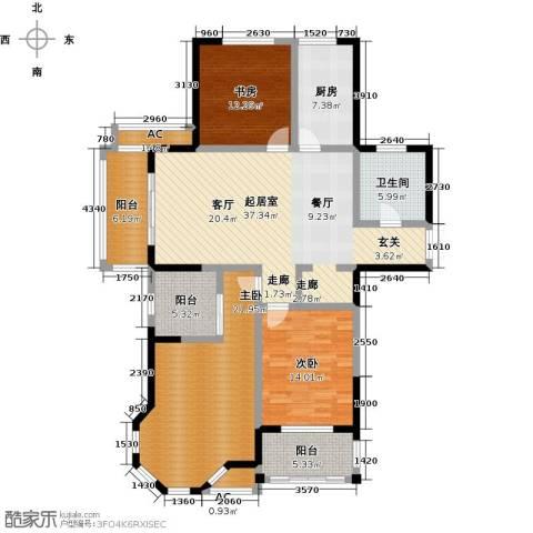 美林湖・水岸枫情3室0厅1卫1厨133.00㎡户型图
