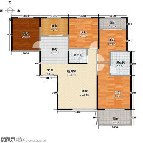 高新百悦城4室0厅2卫1厨115.00㎡户型图