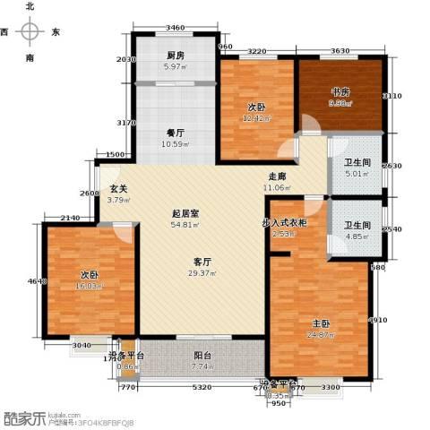 杰辉・枫景华庭4室0厅2卫1厨199.00㎡户型图