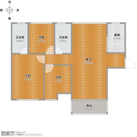 佛奥俊贤雅居3室1厅2卫1厨104.00㎡户型图