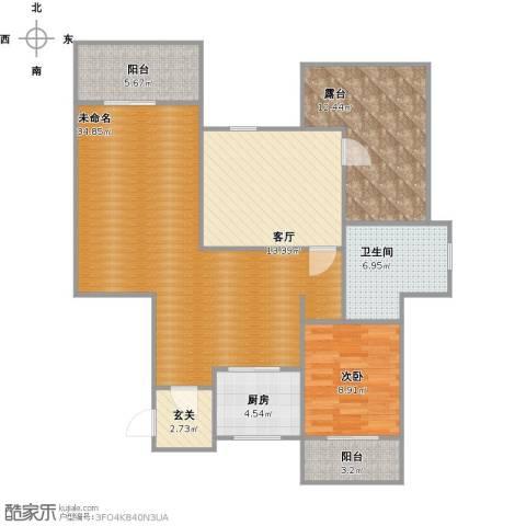 浦江颐城1室1厅1卫1厨125.00㎡户型图