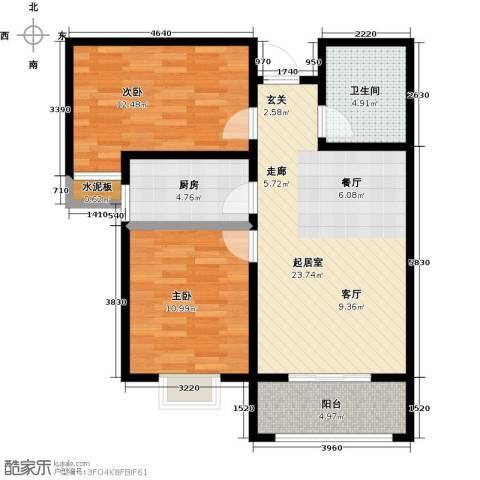 杰辉・枫景华庭2室0厅1卫1厨89.00㎡户型图