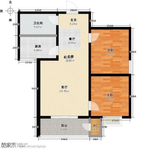 久新名苑2室0厅1卫1厨104.00㎡户型图