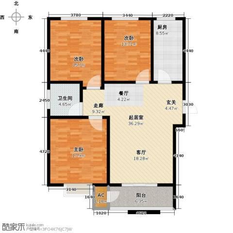 久新名苑3室0厅1卫1厨145.00㎡户型图