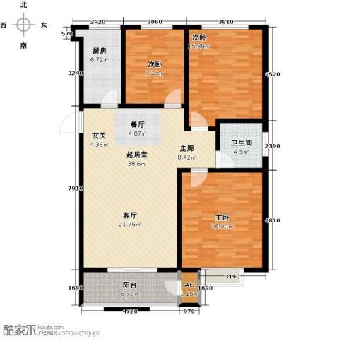 久新名苑3室0厅1卫1厨142.00㎡户型图