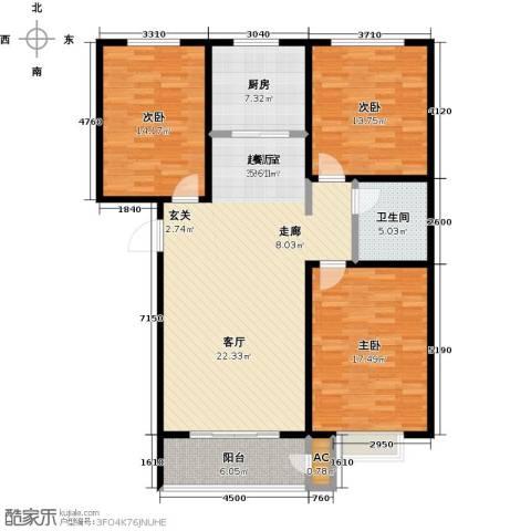 久新名苑3室0厅1卫1厨144.00㎡户型图