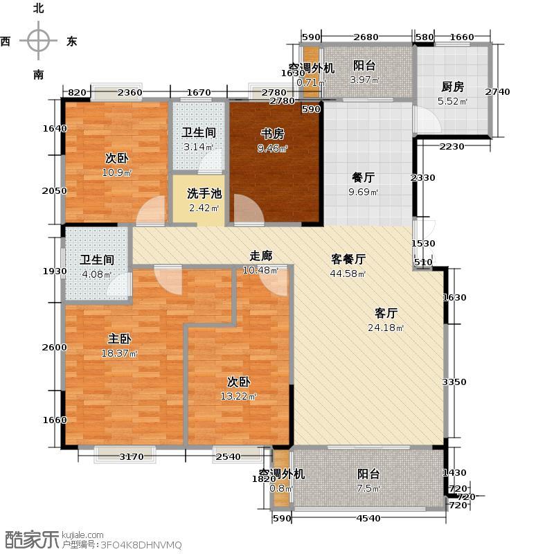 长沙欧洲城图为9A户型4室2厅2卫