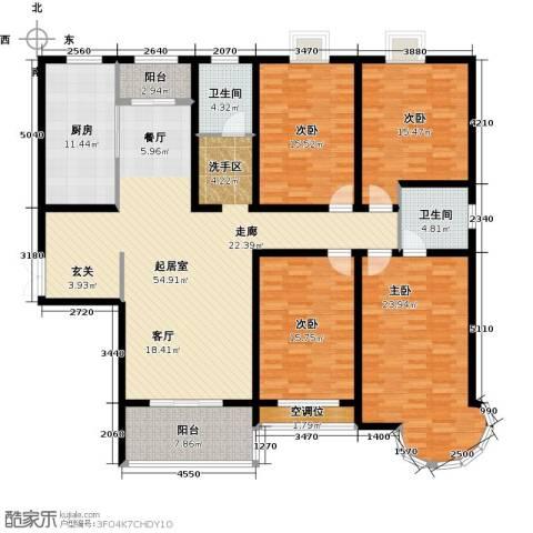 君廷湖畔4室0厅2卫1厨225.00㎡户型图