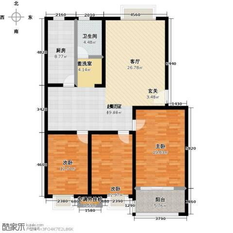 昊海花园3室0厅1卫1厨126.00㎡户型图