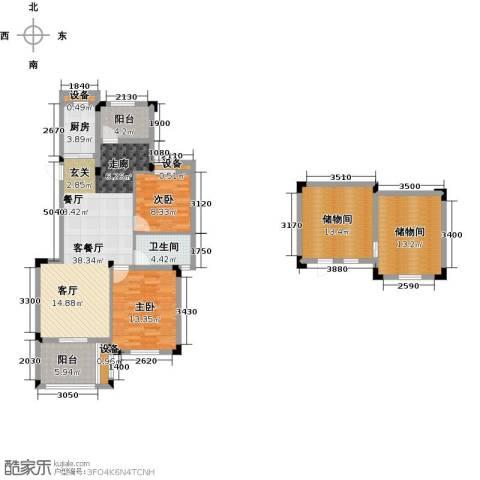 玲珑湾2室1厅1卫1厨107.03㎡户型图