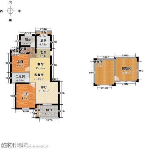 玲珑湾2室1厅1卫1厨105.99㎡户型图