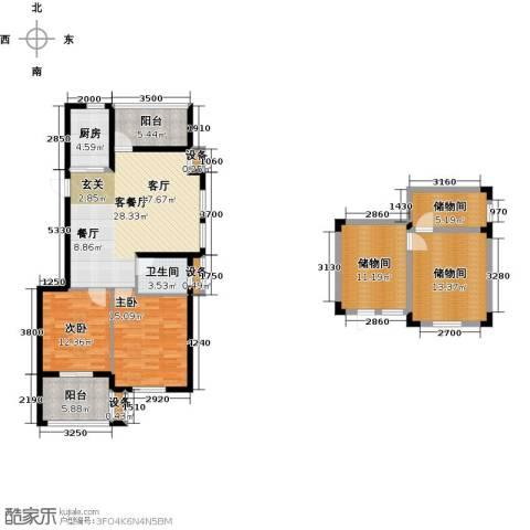 玲珑湾2室1厅1卫1厨106.15㎡户型图