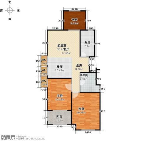 金山福地二期3室0厅1卫1厨111.00㎡户型图