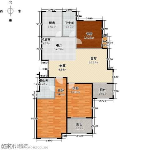金山福地二期3室0厅2卫1厨135.00㎡户型图
