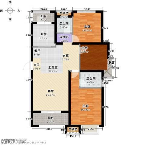 绿地高铁东城3室0厅2卫1厨105.00㎡户型图