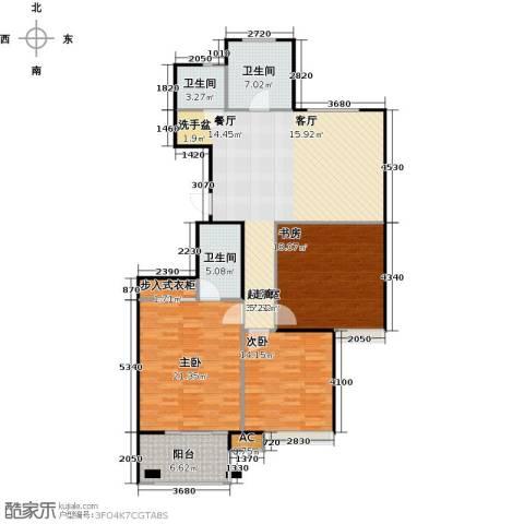 金山福地二期3室0厅3卫0厨124.00㎡户型图