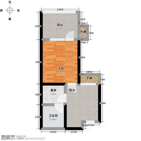 龙潭・温泉印象1室0厅1卫1厨53.00㎡户型图