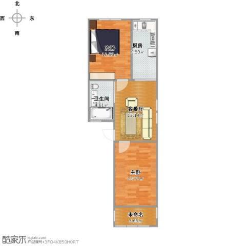靖宇东路85弄小区2室1厅1卫1厨70.00㎡户型图