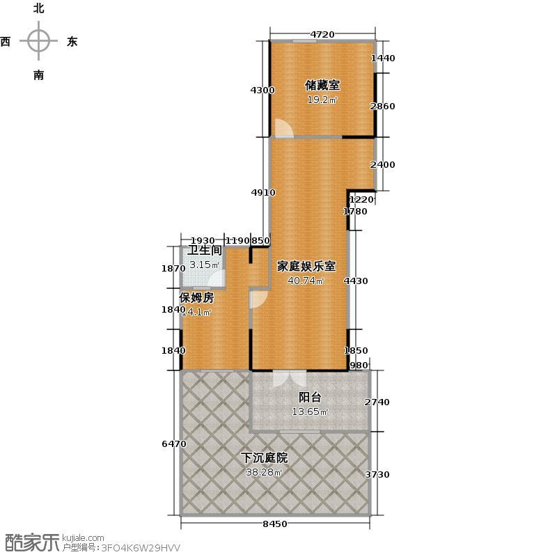 公园1903bct-2户型 负一层户型4室2厅4卫