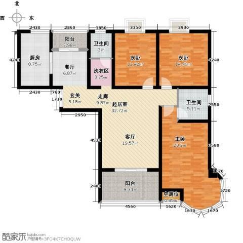 君廷湖畔3室0厅2卫1厨176.00㎡户型图