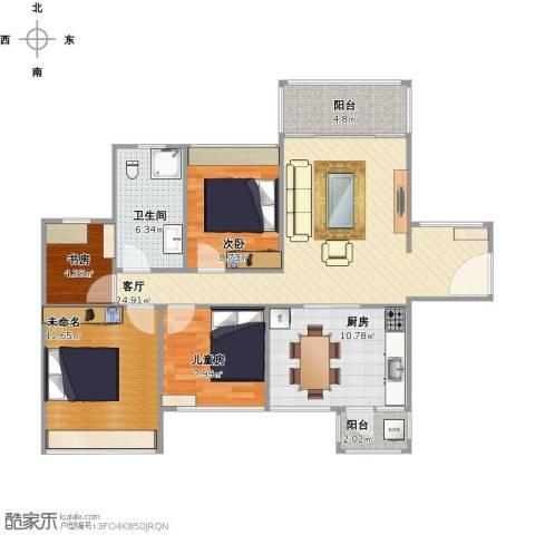 凯南莱弗城3室1厅1卫1厨112.00㎡户型图