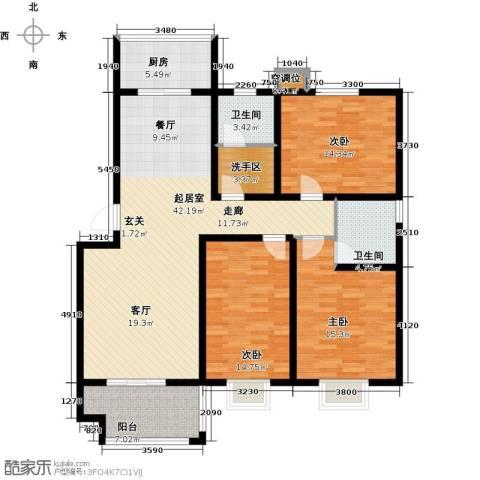 万豪绿城3室0厅2卫1厨127.00㎡户型图