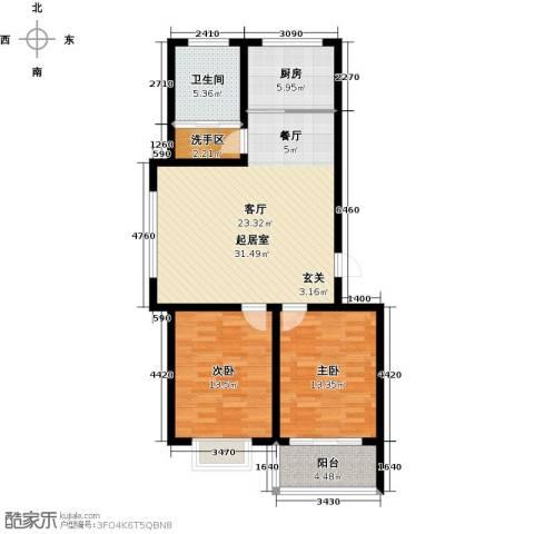 银枫家园2室0厅1卫1厨87.00㎡户型图