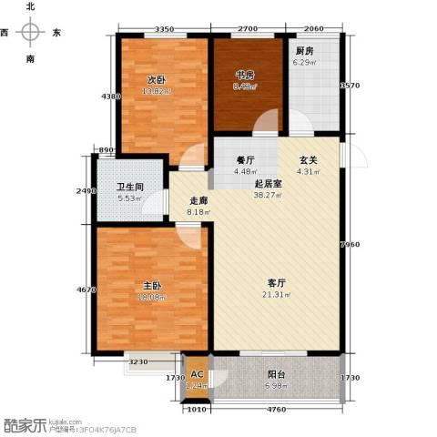 久新名苑3室0厅1卫1厨138.00㎡户型图