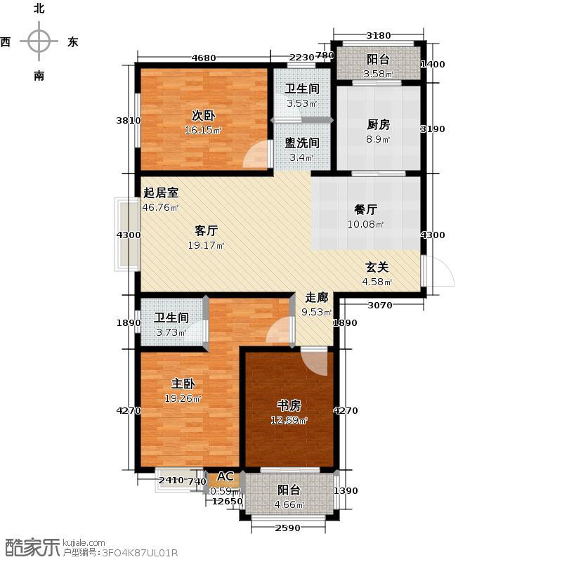 英地泰和院LL户型3室2卫1厨