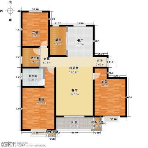 杰辉・枫景华庭3室0厅2卫1厨176.00㎡户型图