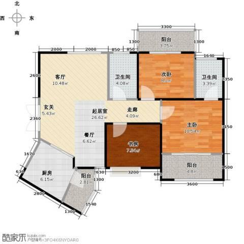 高新百悦城3室0厅2卫1厨100.00㎡户型图