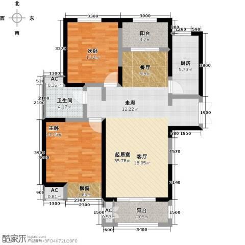 绿地世纪城2室0厅1卫1厨118.00㎡户型图