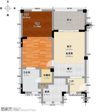 招商・卡达凯斯1室0厅1卫1厨77.00㎡户型图