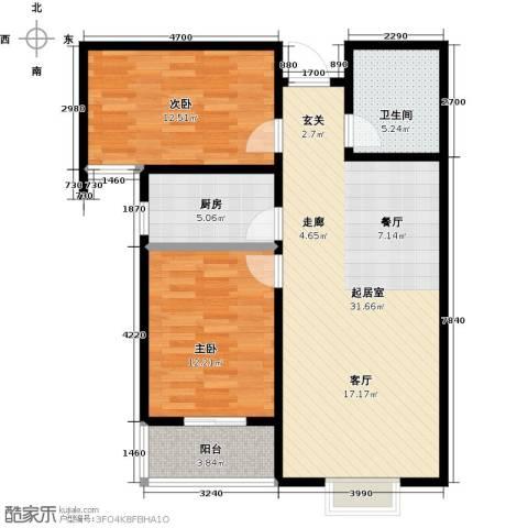 杰辉・枫景华庭2室0厅1卫1厨99.00㎡户型图
