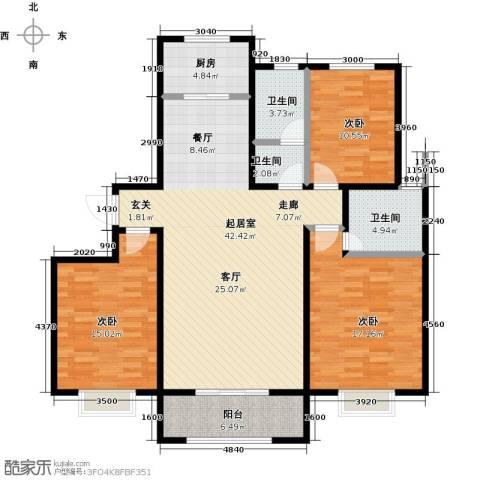 杰辉・枫景华庭3室0厅3卫1厨150.00㎡户型图