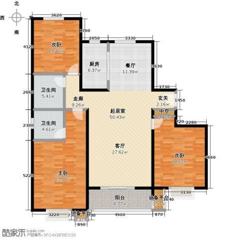 杰辉・枫景华庭3室0厅2卫1厨181.00㎡户型图