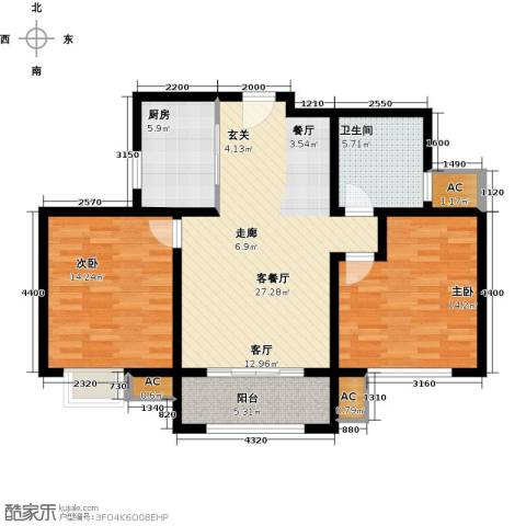 璞御2室1厅1卫1厨108.00㎡户型图