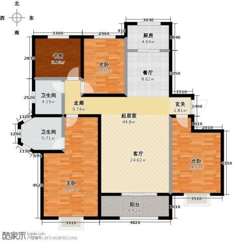 杰辉・枫景华庭4室0厅2卫1厨169.00㎡户型图