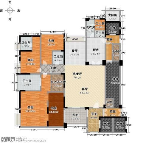 中铁凤凰谷3室1厅4卫1厨296.50㎡户型图