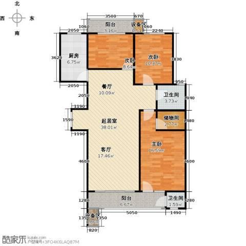 滨河雅园3室0厅2卫1厨127.00㎡户型图