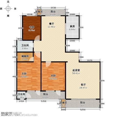 滨河雅园3室0厅2卫1厨172.00㎡户型图