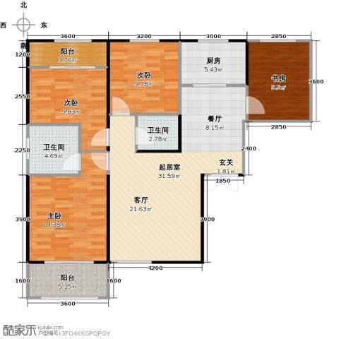 高新百悦城4室0厅2卫1厨118.00㎡户型图