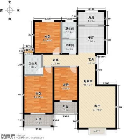 杰辉・枫景华庭3室0厅3卫1厨154.00㎡户型图