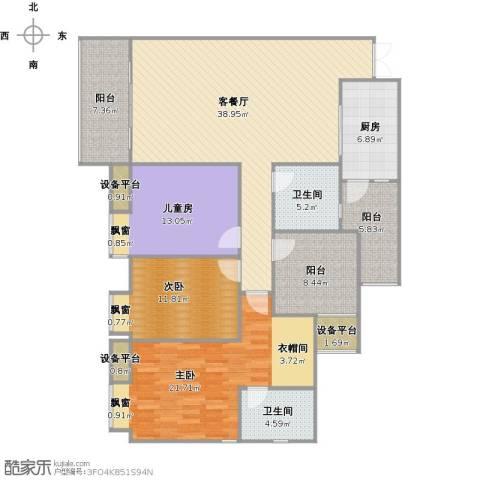 鸥鹏泊雅湾3室1厅2卫1厨172.00㎡户型图