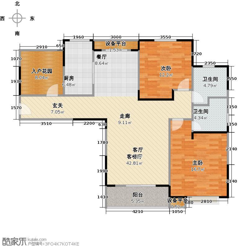 丰尚御龙湾户型 2室2厅1卫户型2室2厅1卫